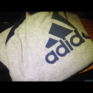 adidas Shirts & Tops - Boys Adidas gray and blue tee shirt size 6